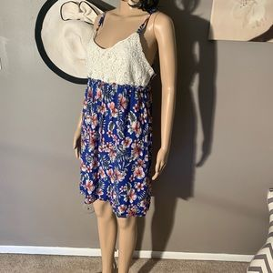 Ocean Pacific Size L (12/14) Crochet Summer Dress